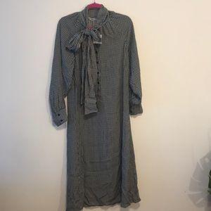 Zara maxi dress sz small nwt gingham dress